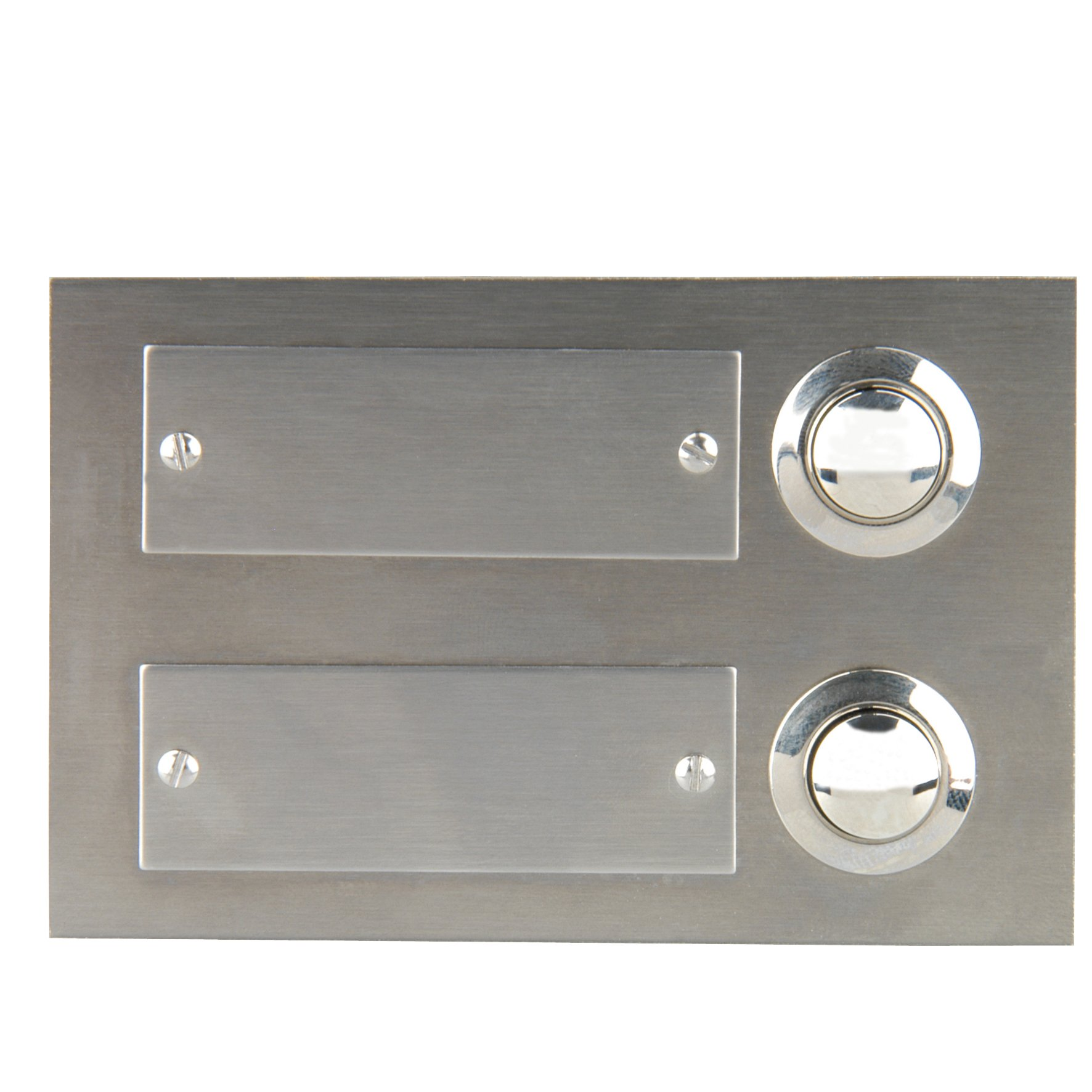 Unitec 47198 Flush-Mounted Door Bell Push Button 2-Channel Stainless Steel