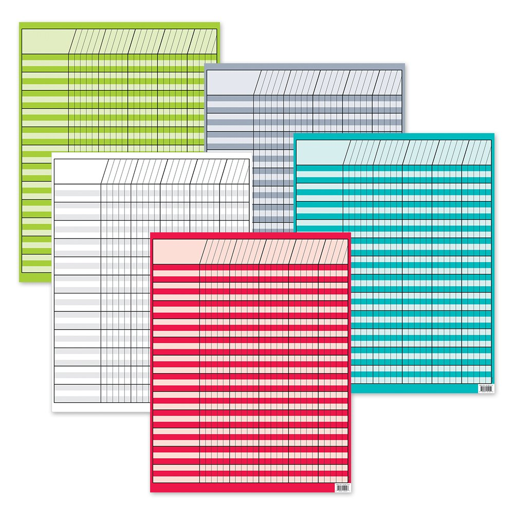 Creative Teaching Press Bright Colors Incentive 5-Chart Pack (0974) by Creative Teaching Press