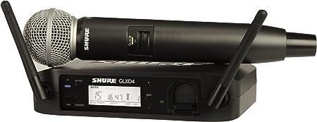 Amazon.com: Shure GLXD24/B58 Sistema Vocal Digital Inalámbrico con Micrófono de Mano Beta 58A, Z2: Musical Instruments