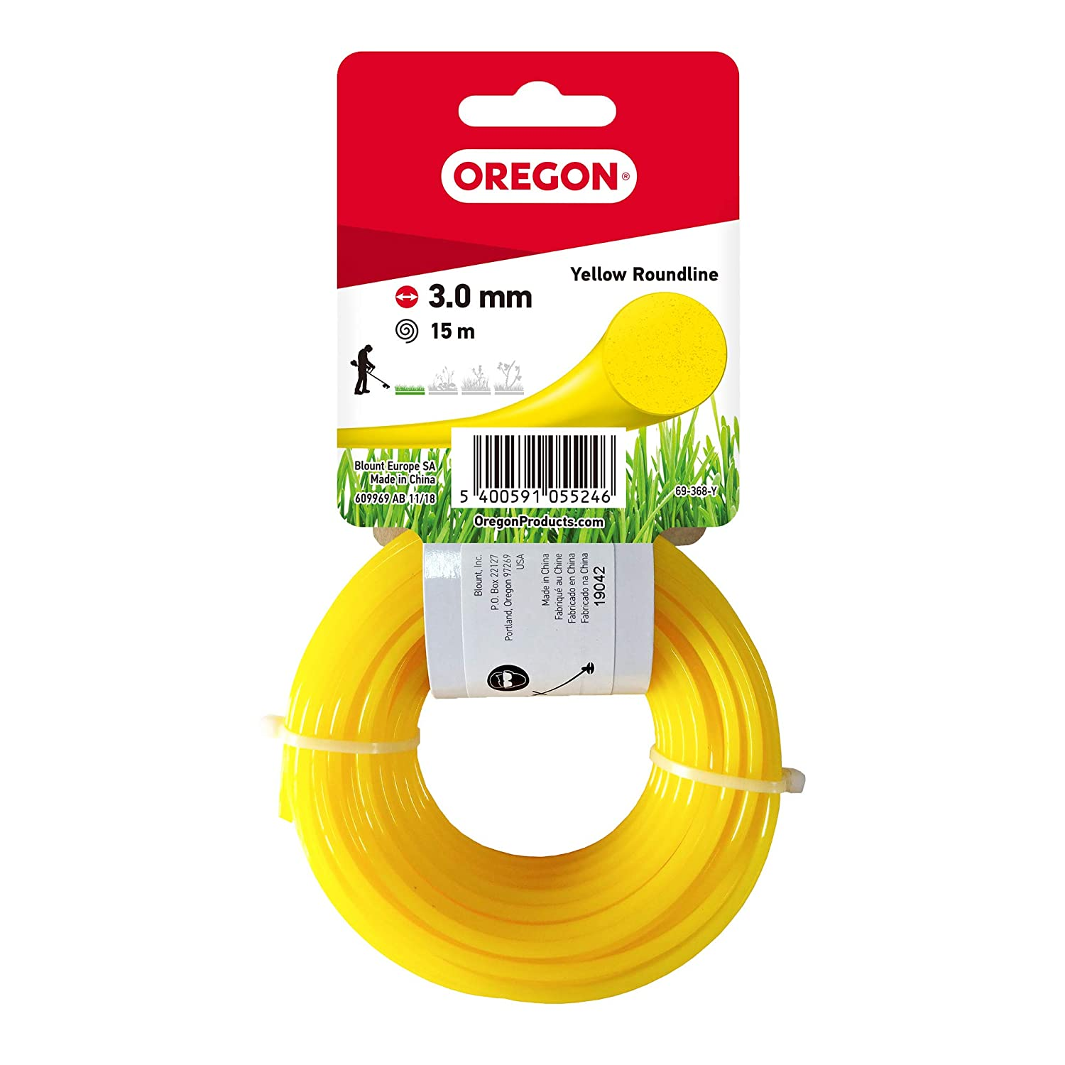 1.7mm x 15m 1.7 mm x 15 m Blue Oregon 69-350-BL Round Strimmer Line//Wire for Grass Trimmers