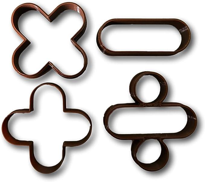 Matemáticas signos y símbolos de moldes (Juego de 4): Amazon.es: Hogar