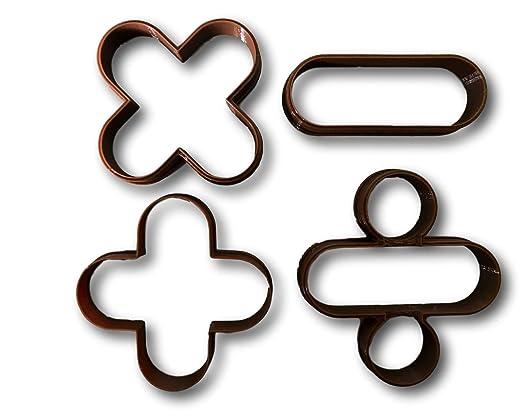 Matemáticas signos y símbolos de moldes (Juego de 4): Amazon ...