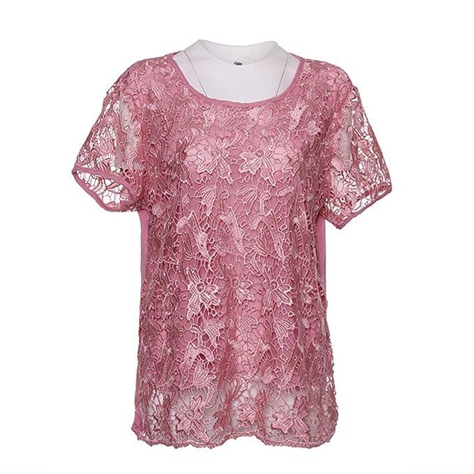 e8fe707477f Frozac Lace Summer Short Sleeve T-Shirt Style Fashion Plus ...