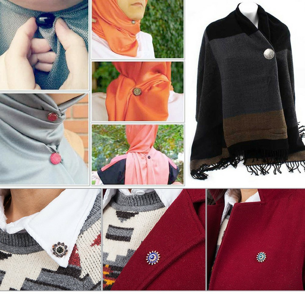 1 pair GoAlisha Diamond Stripe Fashion Magnet Pins for Sarees and Dupattas Navrang 10078783-black
