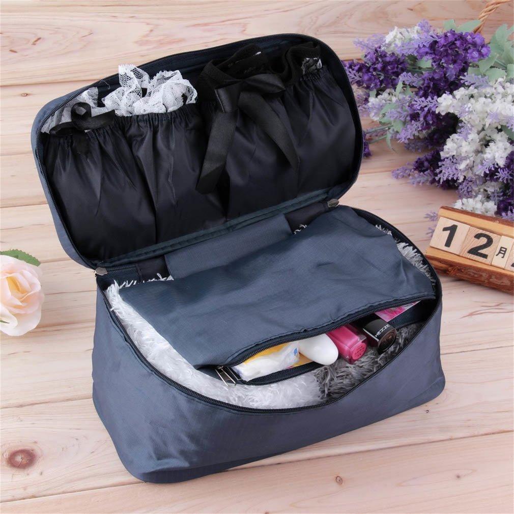 Portable Protect BH Unterwä sche Dessous Fall Reiseveranstalter Tasche Wasserdicht Frauen Kosmetik Make-up Aufbewahrungskoffer, himmelblau FairytaleMM