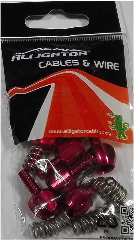 10x Tope + Tensor Cable Cambio Desviador para Bicicleta Alligator ...