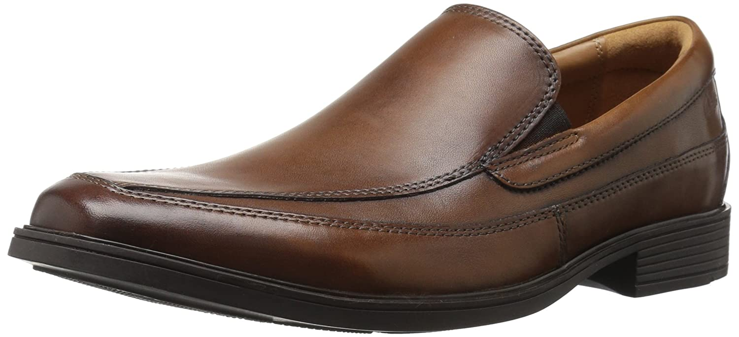 Hombre CLARKS CLARKS Hombre Negro LEATHER SLIP ON Zapatos STYLE TILDEN FREE b26ec0