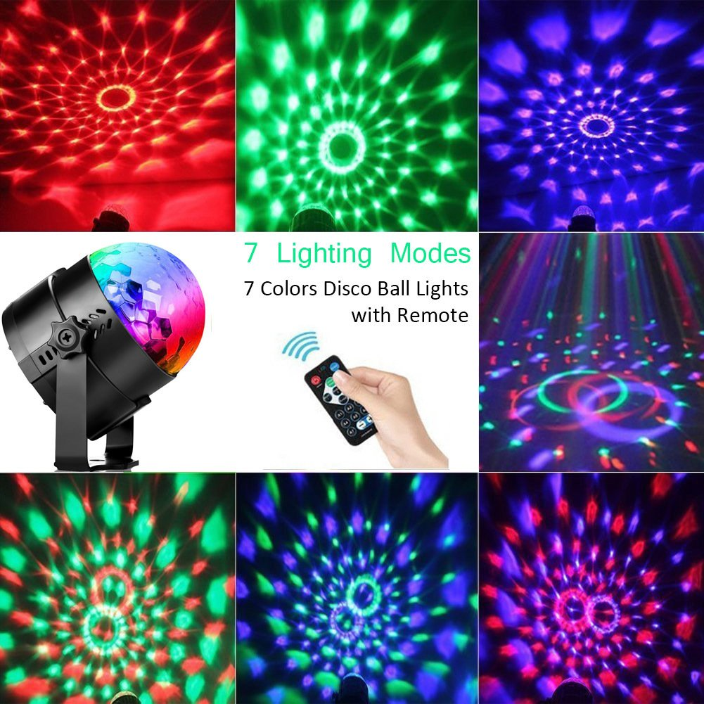 Amazon disco ball led party dj lights with remote control rbg amazon disco ball led party dj lights with remote control rbg strobe led lamp 7 modes stage party strobe light for christmas parties wedding outdoor aloadofball Images