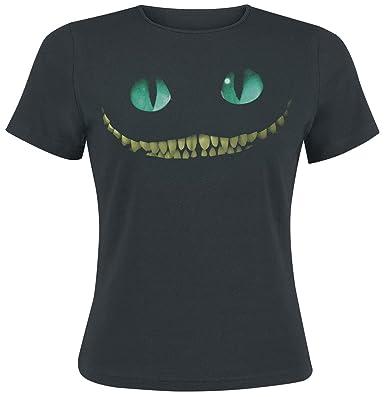 Alice im Wunderland Grinsekatze - Smile Girl-Shirt Schwarz XS