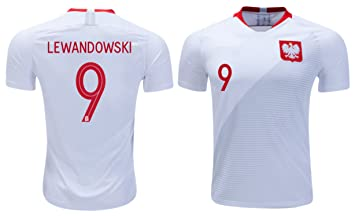 reputable site 0d8ed 26037 Poland Lewandowski #9 Soccer Jersey Men's Adult Home World ...