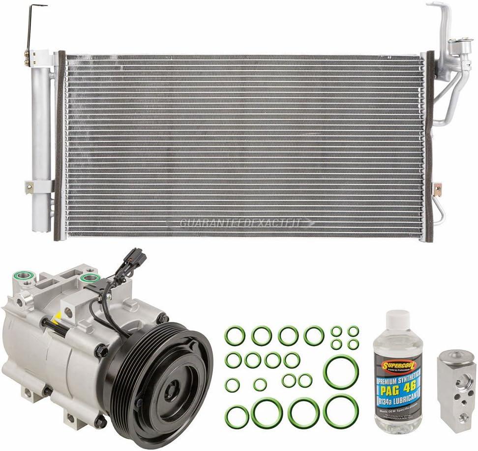 BuyAutoParts 60-82478R6 New For Hyundai Santa Fe 2001-2006 AC Compressor w//A//C Condenser /& Repair Kit