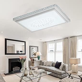 Wohnzimmer Deckenle 64w led kristall deckenleuchte starlight effekt quadrat deckenle