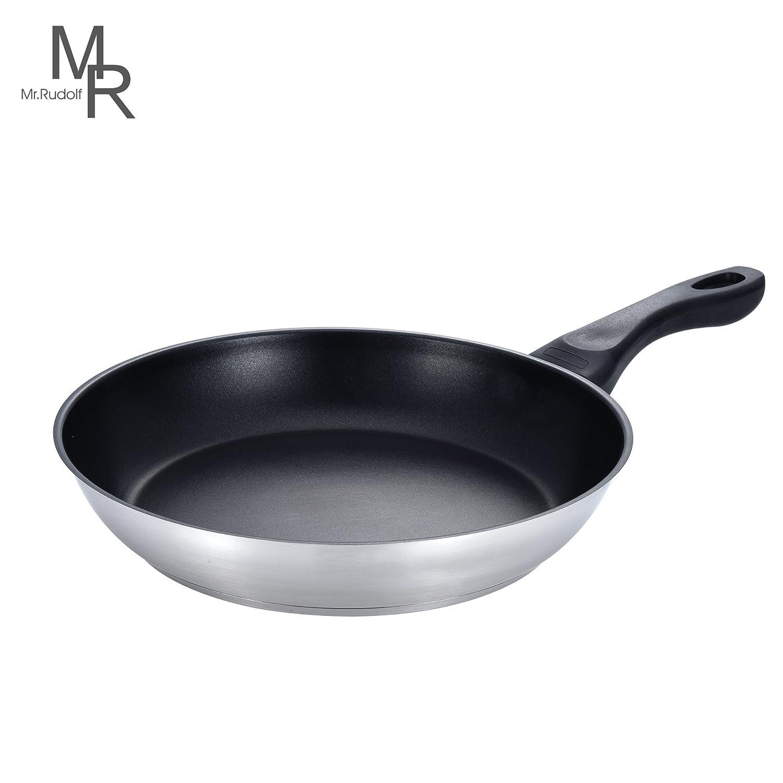 Amazon.com: Mr. Rudolf 11-inch Nonstick 18/10 Stainless Steel Frying ...