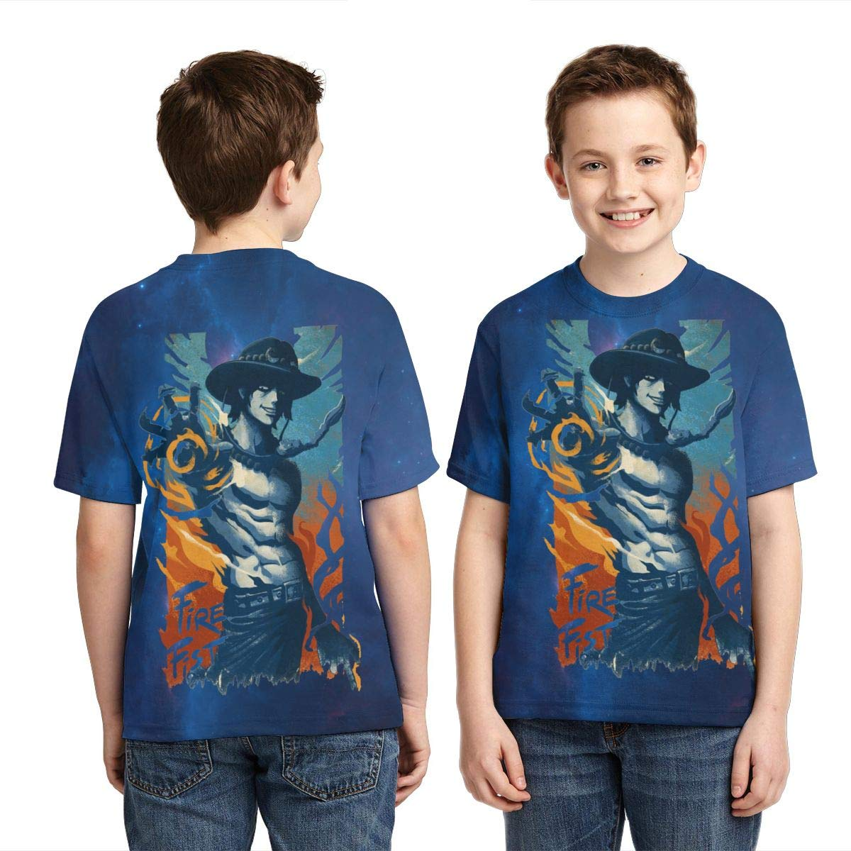 Zengqinglove Boys,Girls,Youth Vintage One Piece Anime T-Shirt