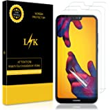 LK [3 Pack Screen Protector for Huawei P20 Lite, [Full Coverage] [Bubble-Free] HD Clear Flexible film with Lifetime Replacement Warranty