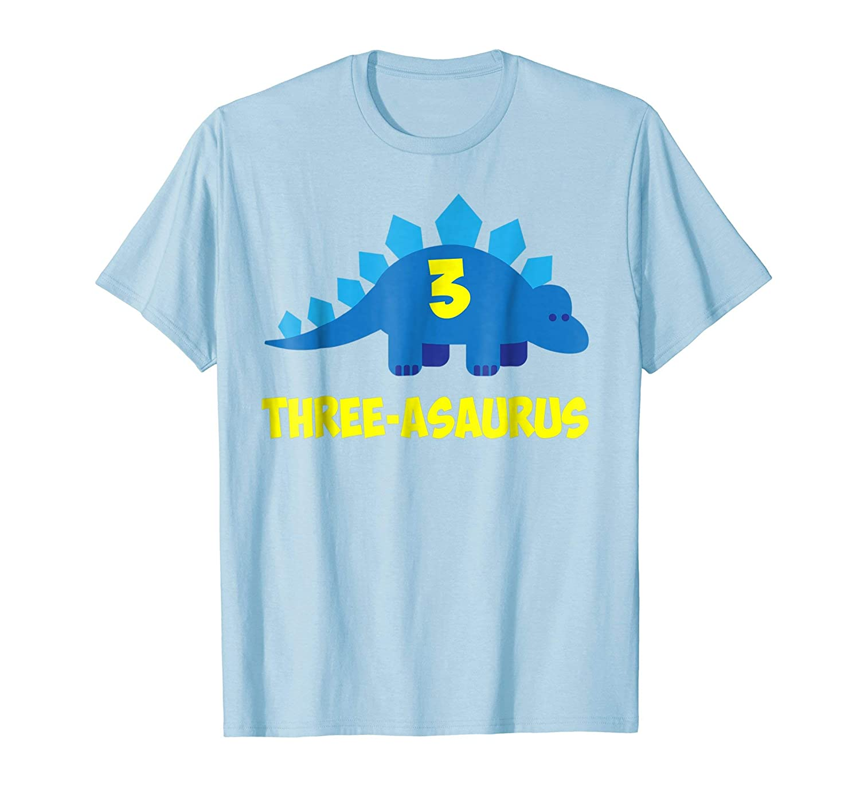 Amazon Three Asaurus 3rd Birthday Shirt Year Old Boy Or Girl Clothing