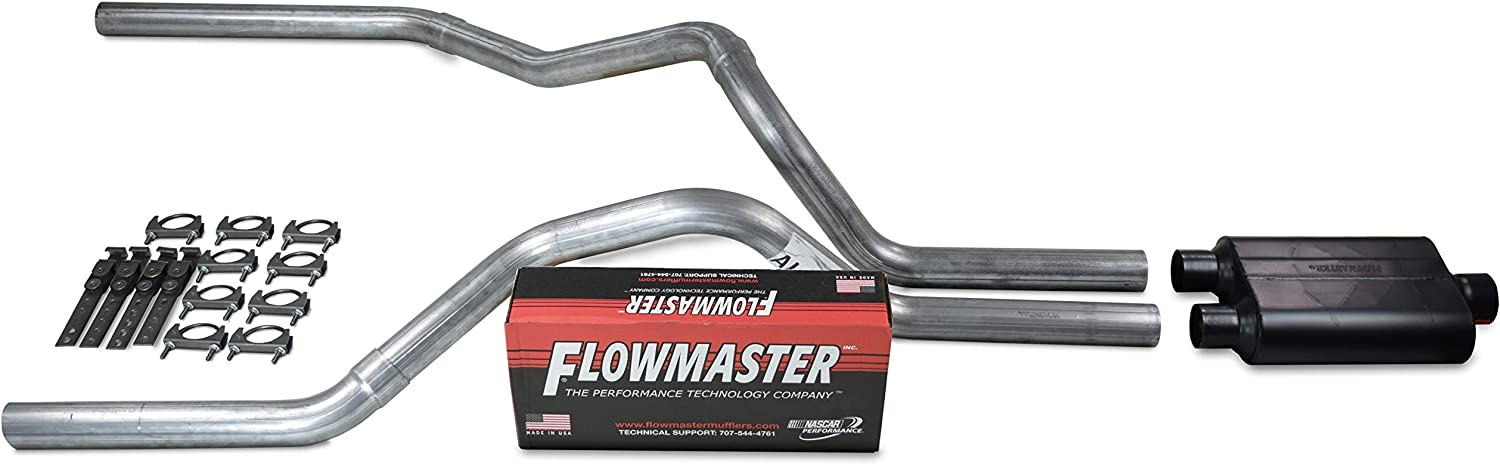 Truck Exhaust Kits - Shop Line dual exhaust system 2.5 AL pipe Flowmaster Super 44