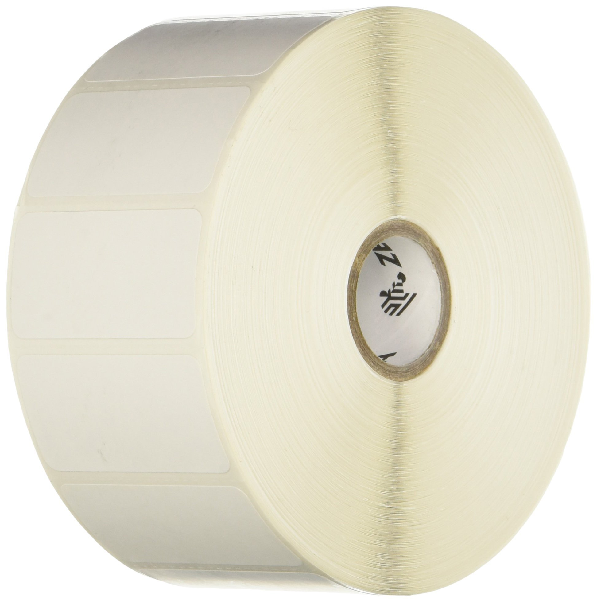 Zebra Technologies 10010039 Z-Select 4000D Direct Thermal Label, 2'' x 1'', 1'' Core, 5'' OD, 2340 per Roll (Pack of 4)