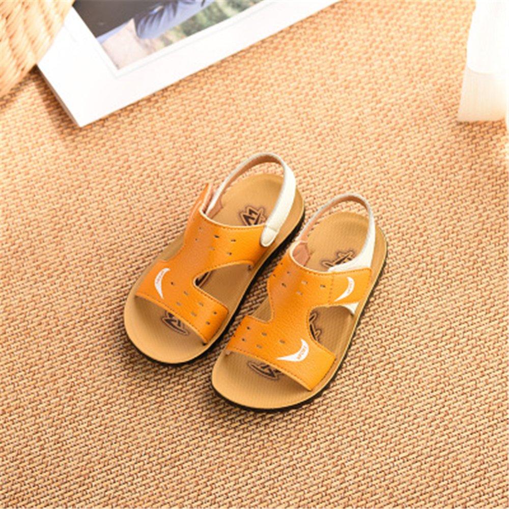 MOREMOO Boys Spring Summer Leather Walking Closed-Toe Strap Sandal