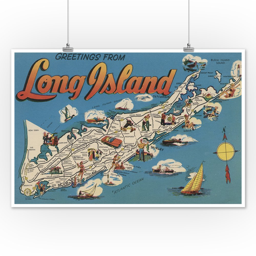 Amazon greetings from long island new york view 12x18 art amazon greetings from long island new york view 12x18 art print wall decor travel poster posters prints kristyandbryce Images