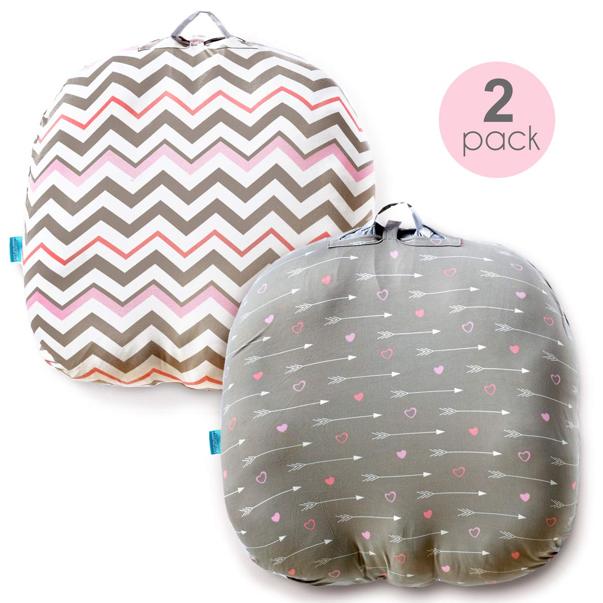 cosmoplus Stretchy Newborn Lounger Cover -2 Pack Removable Slipcover, Super Soft Snug Fitted, Arrow & Chevron