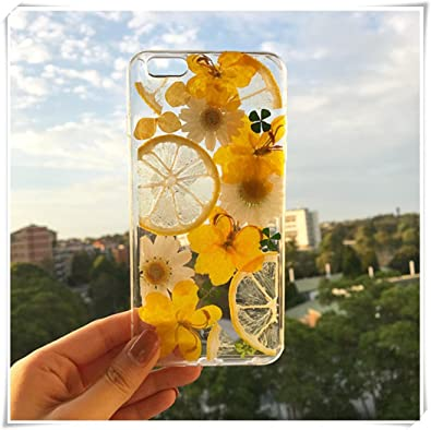 innovative design c7bc7 7b706 Amazon.com: Samsung Galaxy S9 Handmade phone case/ pressed flower ...
