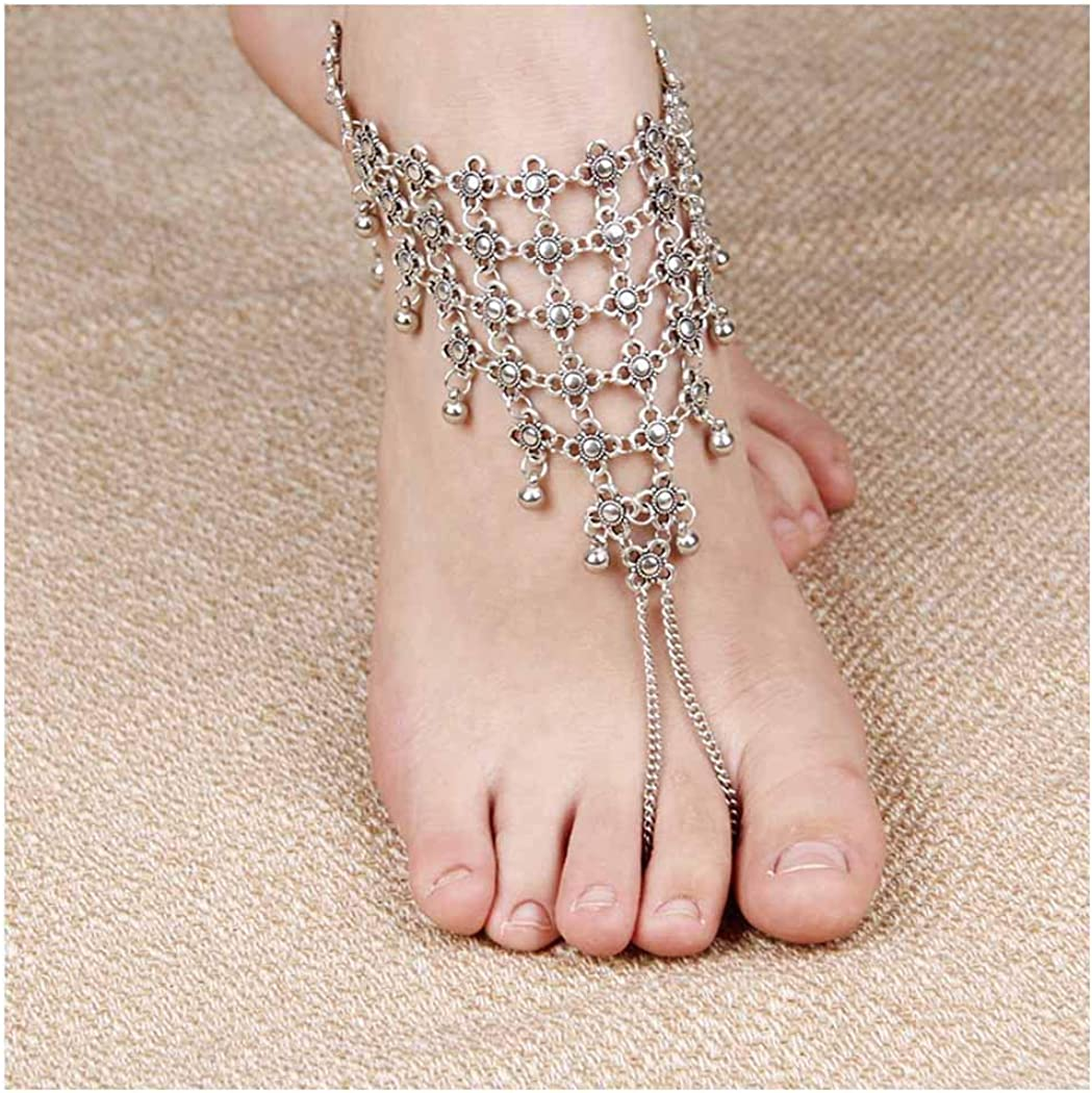 Tgirls Boho Vintage Exaggeration Anklet Bracelet Beach Foot Chain Ankle Accessories Jewelry for Women