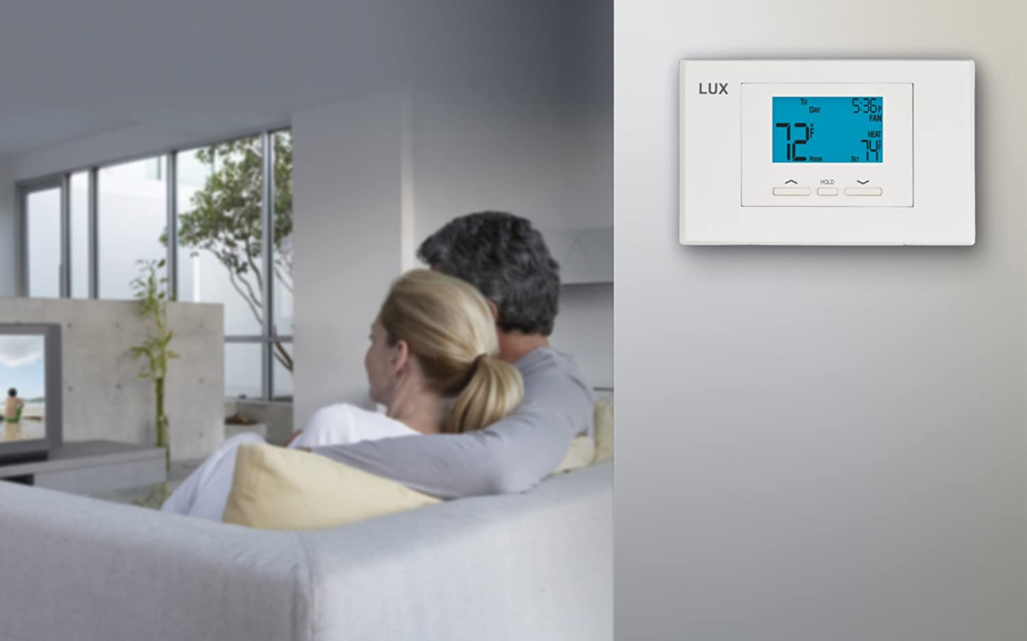 Lux Products TX500U Universal 5-2 Programmable Thermostat ...