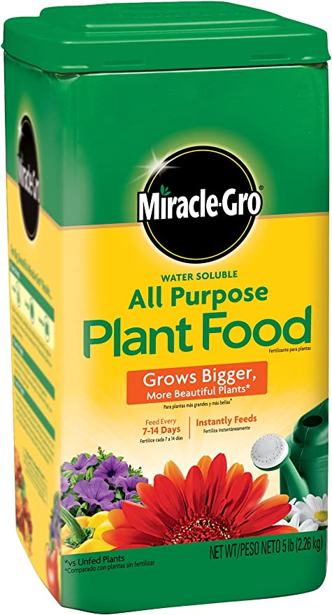 Amazon Com Miracle Gro Water Soluble All Purpose Plant Food 5