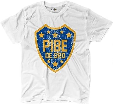 KiarenzaFD Camiseta Camiseta fútbol Vita de Strada del Pibe de Oro Boca Grunge 3 Shirts, KTS01712_XL, Blanco, X-Large: Amazon.es: Deportes y aire libre