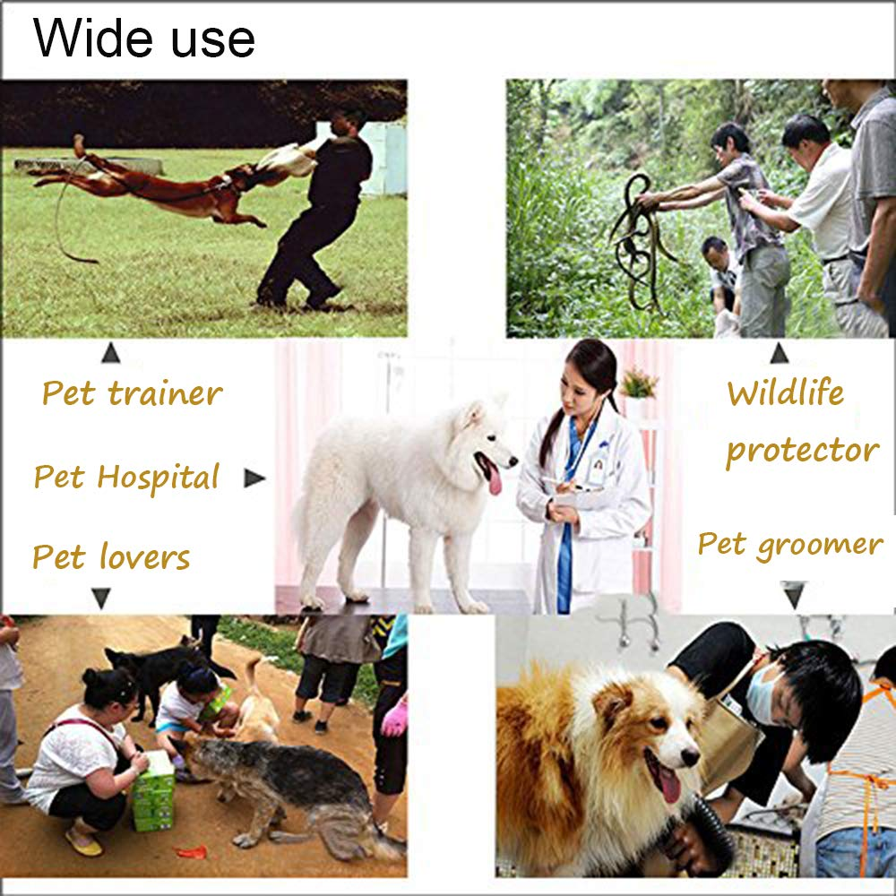 ASOCEA Pet Handling Gloves Scratch Bite Resistant Protective Safety Gloves For Bathing Grooming Handling Cats Dogs Reptile - - Amazon.com