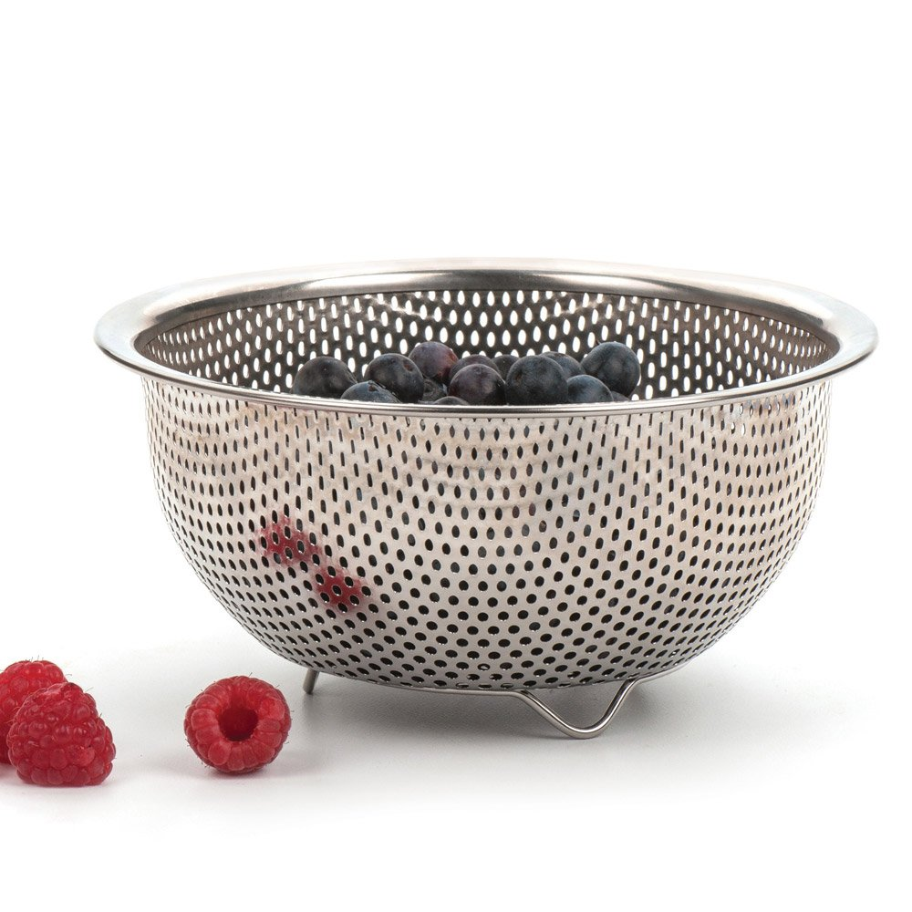 RSVP Endurance Precision Pierced Stainless Steel Berry Colander RSVP International PP-BER