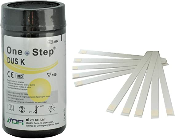 100 Tiras reactivas de orina para análisis de cetonas o Cetosis - Herramienta para la dieta Atkins de pérdida de peso (1 bote)
