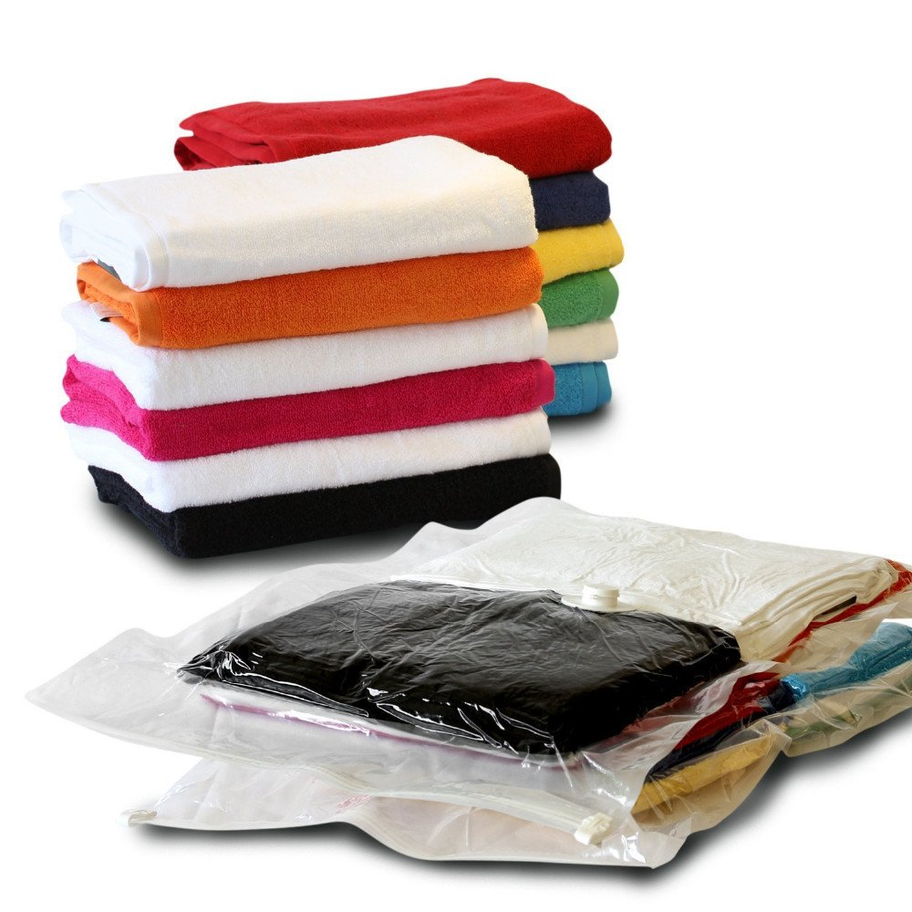 12 Packs of Storage Saving Space Clothes Bags - 80cm x 60cm-Vacuum Storage Bag by NORBERTBERKELEY