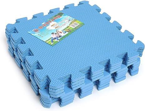 Image ofKicode 9 PCS Puzzle Colchoneta de ejercicio de juegos para niños Con la alta calidad de la espuma de EVA que entrelaza Azulejos (Azul)