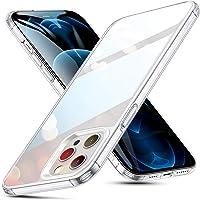 ESR for iPhone 12 Pro Max Case [9H Tempered-Glass Back] Scratch Resistant & Soft TPU Frame [Shock-Absorption] Bumper…