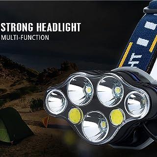 Torcia Elettrica,OHQ MODA 5x XM-L T6 LED + 2x faro anteriore a induzione ricaricabile