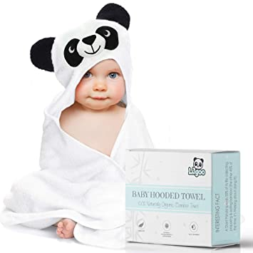 482613024fe Amazon.com   Organic Bamboo Hooded Baby Towel - Large