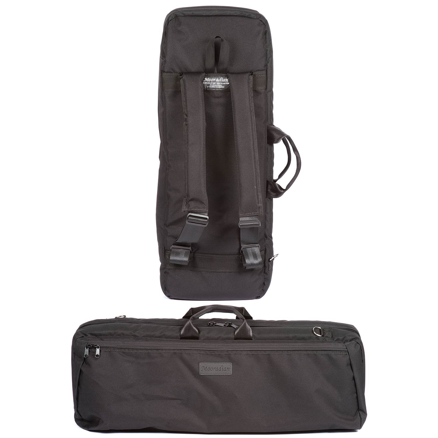 Mooradian Black Oblong Slip-On 4/4 Violin Case Cover with Padded Back-Pack Straps by Mooradian (Image #1)
