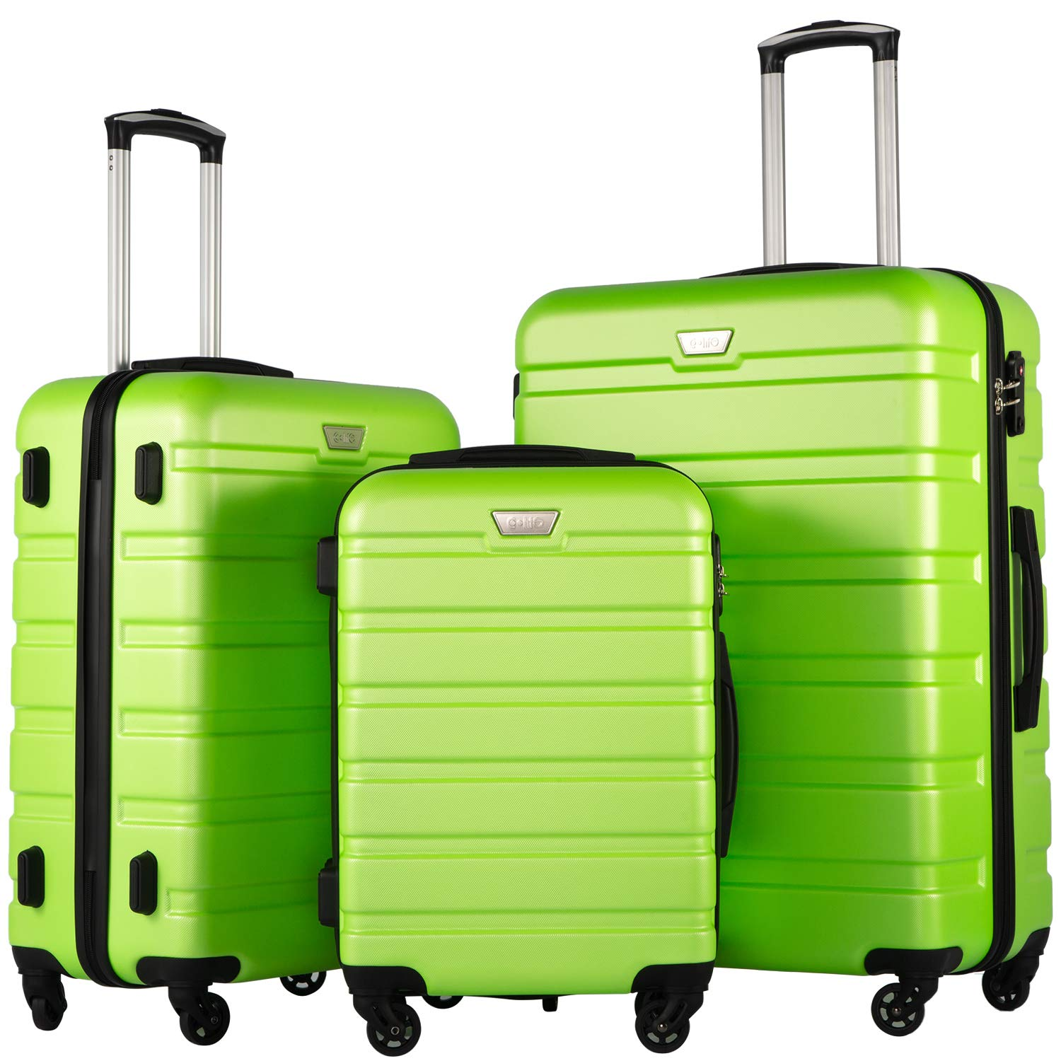 COOLIFE Luggage 3 Piece Set Suitcase Spinner Hardshell Lightweight TSA Lock