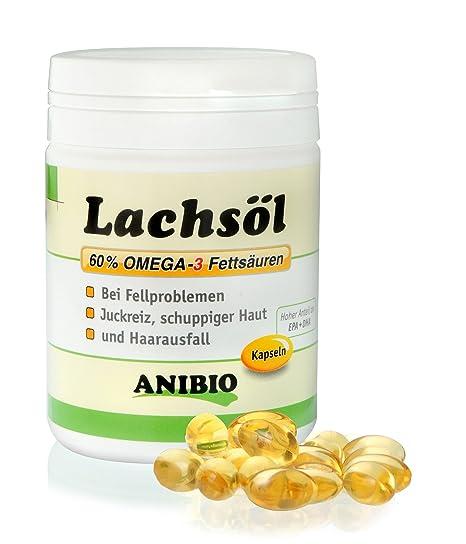 Anibio Aceite de Salmón en Cápsulas 180 Piezas Alimento Complementario para Perros y Gatos 1x Paquete
