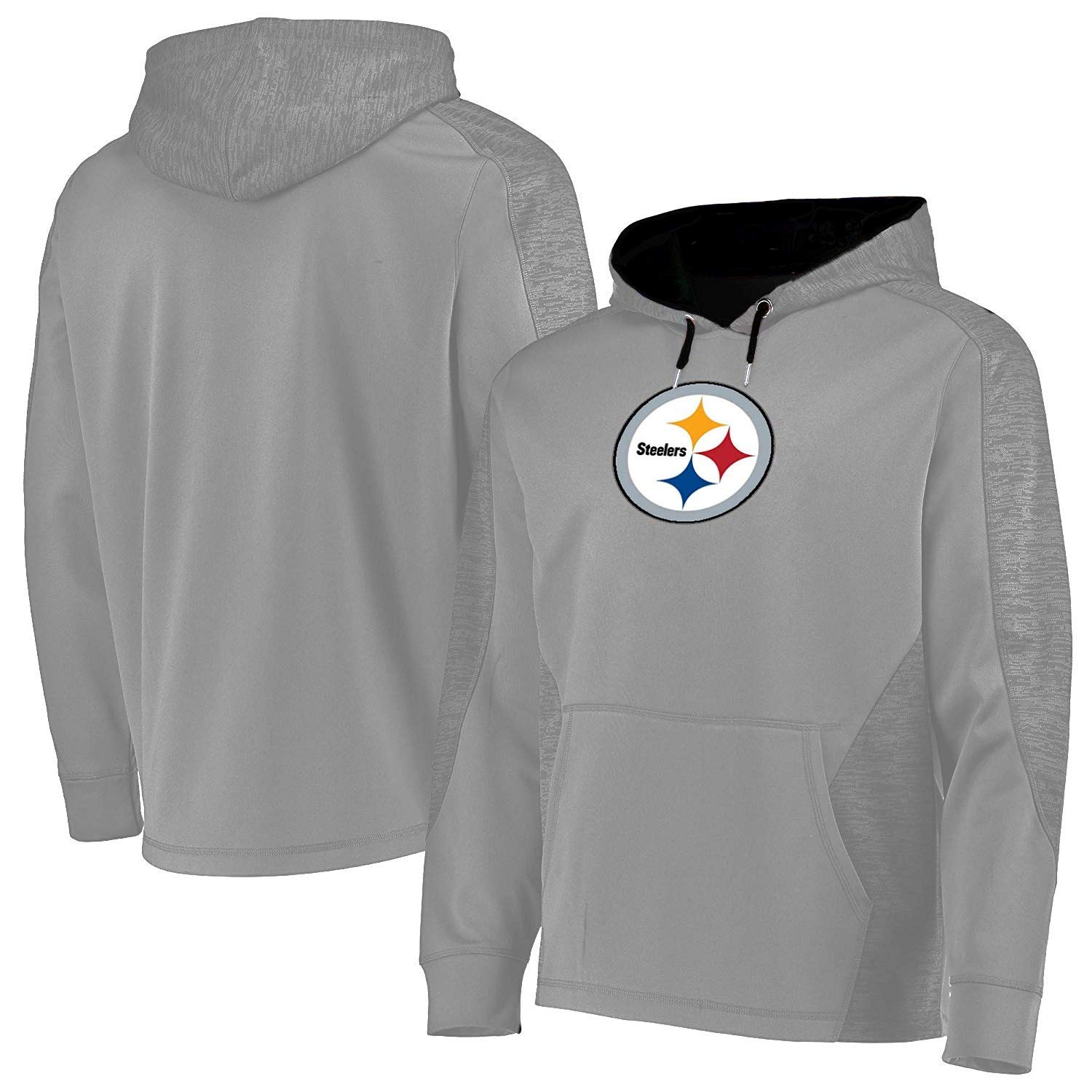 hot sale online 39a1b 0abaf Amazon.com : Majestic Pittsburgh Steelers Charcoal Ultra ...
