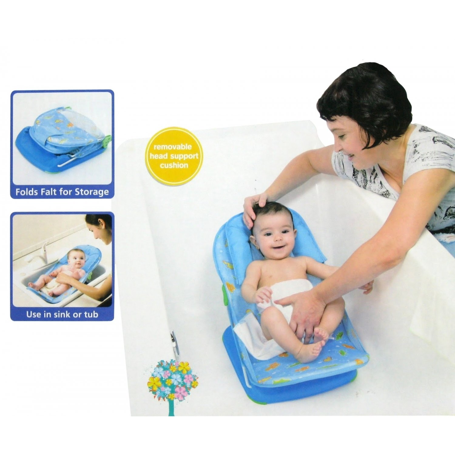 Buy Mastela Deluxe Baby Bather - Blue - BLUE, 0M+ Online at Low ...