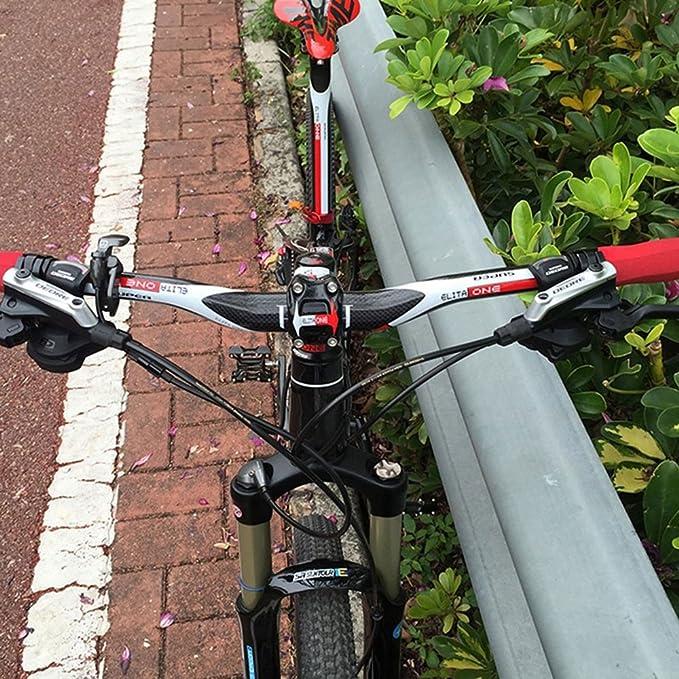 FUTURE Manillar de fibra de carbono para bicicleta MTB, 700 mm, rojo: Amazon.es: Deportes y aire libre