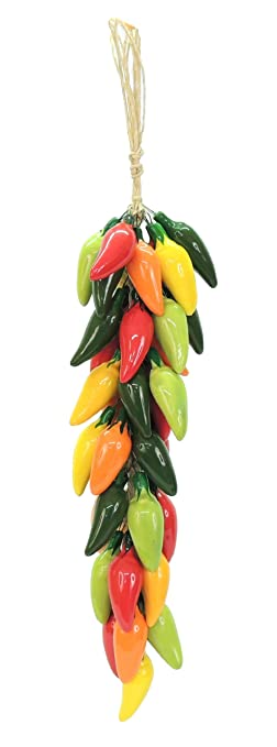 Mexican Multicolor Ceramic Hanging Chiles Kitchen Decor 17 Quot