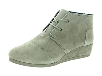 7ff16122eee Image Unavailable. Image not available for. Color  TOMS Desert Wedge Girls   Toddler-Youth Boot 6 M US Big Kid Taupe