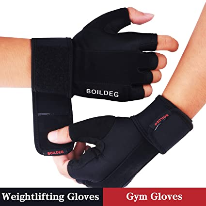 08cb888d8576b9 BOILDEG Fitness Handschuhe Trainingshandschuhe,für Bodybuilding  Crossfit,Damen&Herren(S)