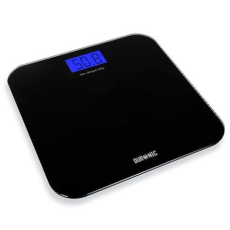 Duronic BS601 Báscula de Baño Digital de Alta Precisión Peso Corporal hasta 180 kg, Cristal