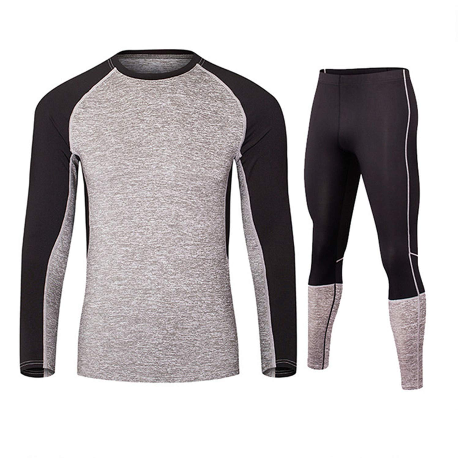 Winter Men Thermal Underwear Sets Fleece Warm Long Breathable Thermo Underwear Quick Dry Top and Pant Suit Tight