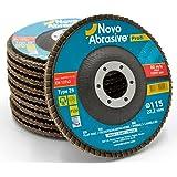 NOVOABRASIVE Premium Calidad 10 Pzas Embalaje 120-Grano 115 x 22.23 mm T29 Cónicos Discos
